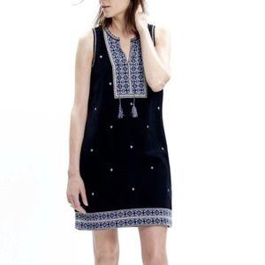 Madewell | Black Embroidered Suncoast Dress